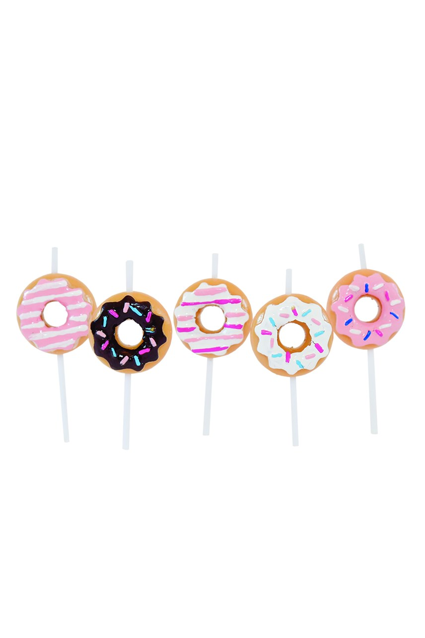 American Donut Candle Set