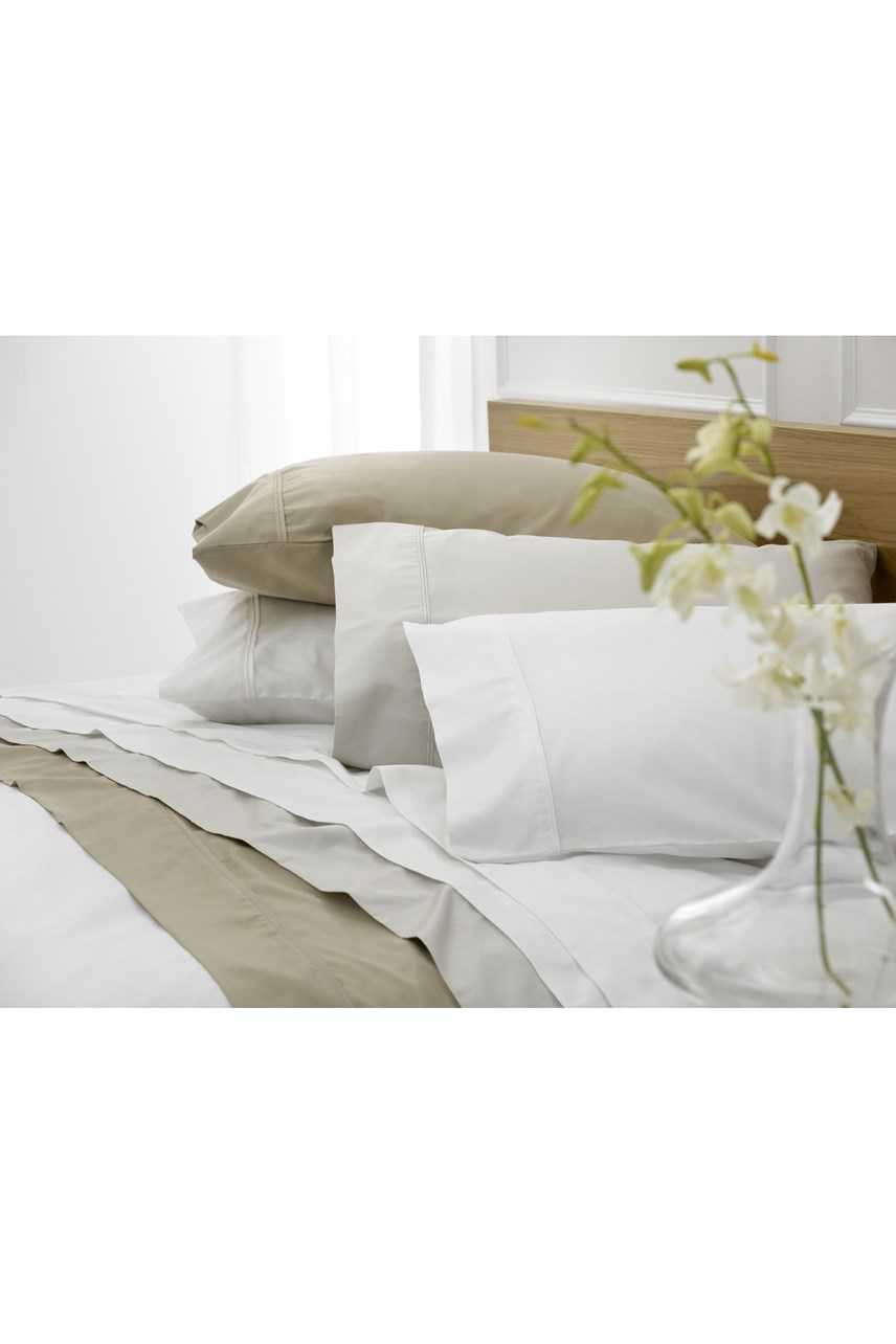 Sateen Fitted Sheet Almond