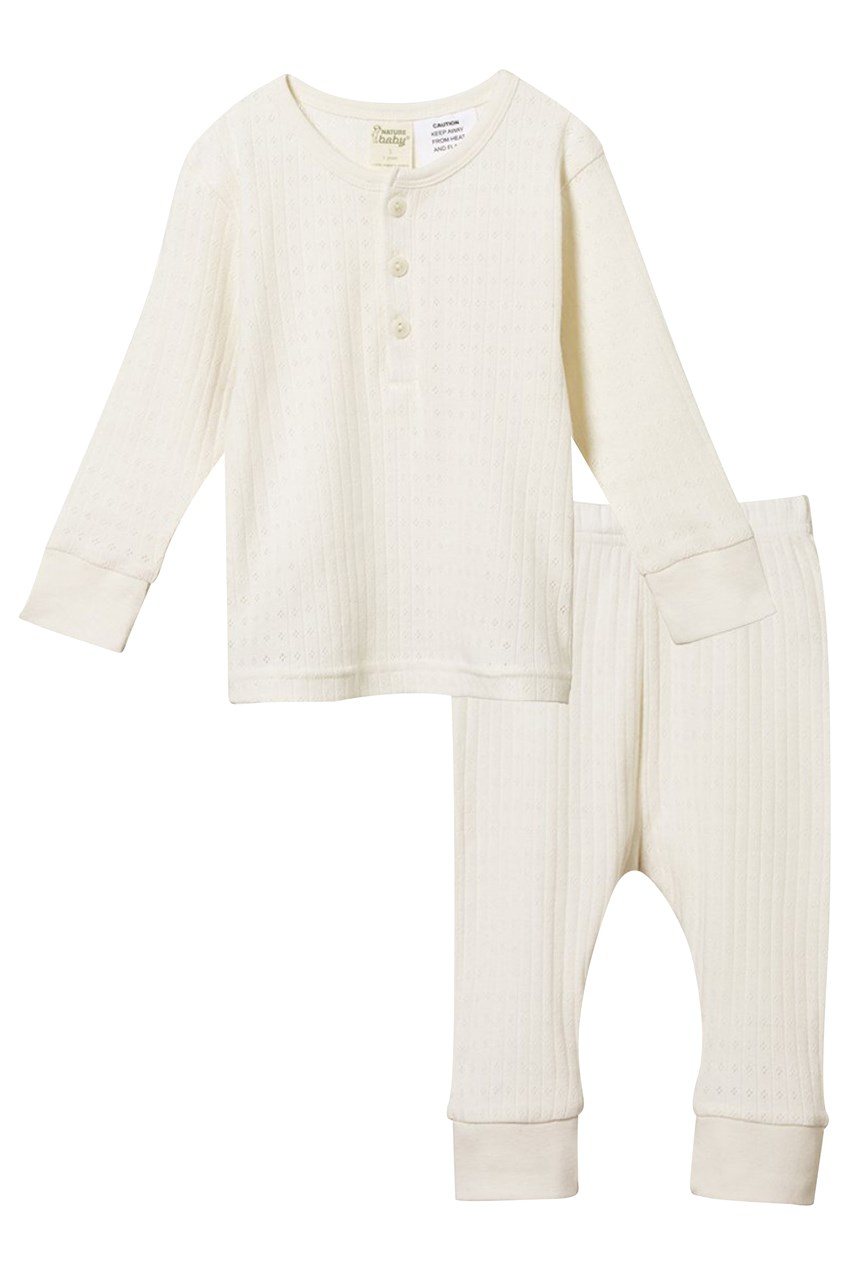 Pointelle Long Sleeve Pyjama Set