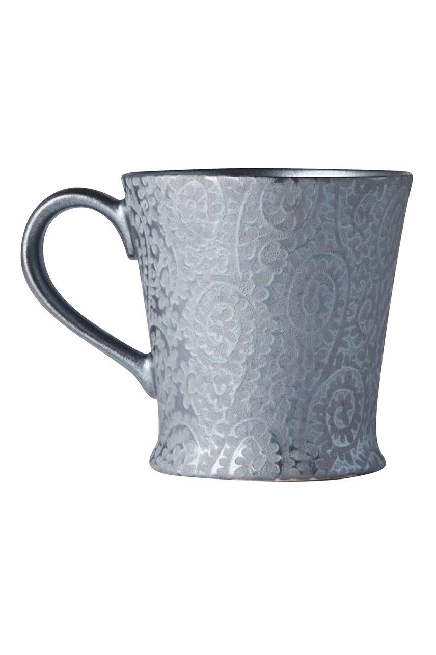 Black Scroll Mug with Handle - 250mL