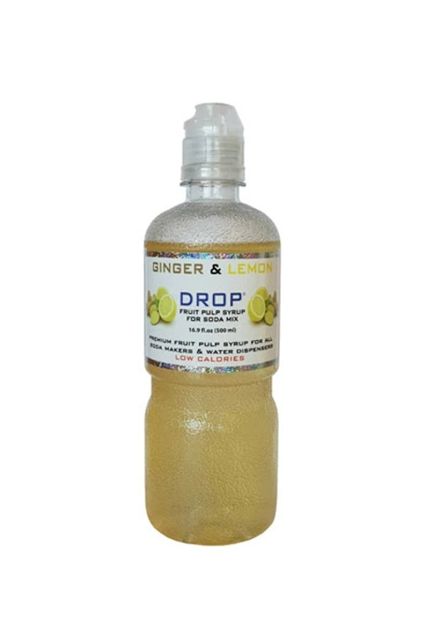Lemon & Ginger Fruit Pulp Soda Mix - 500mL