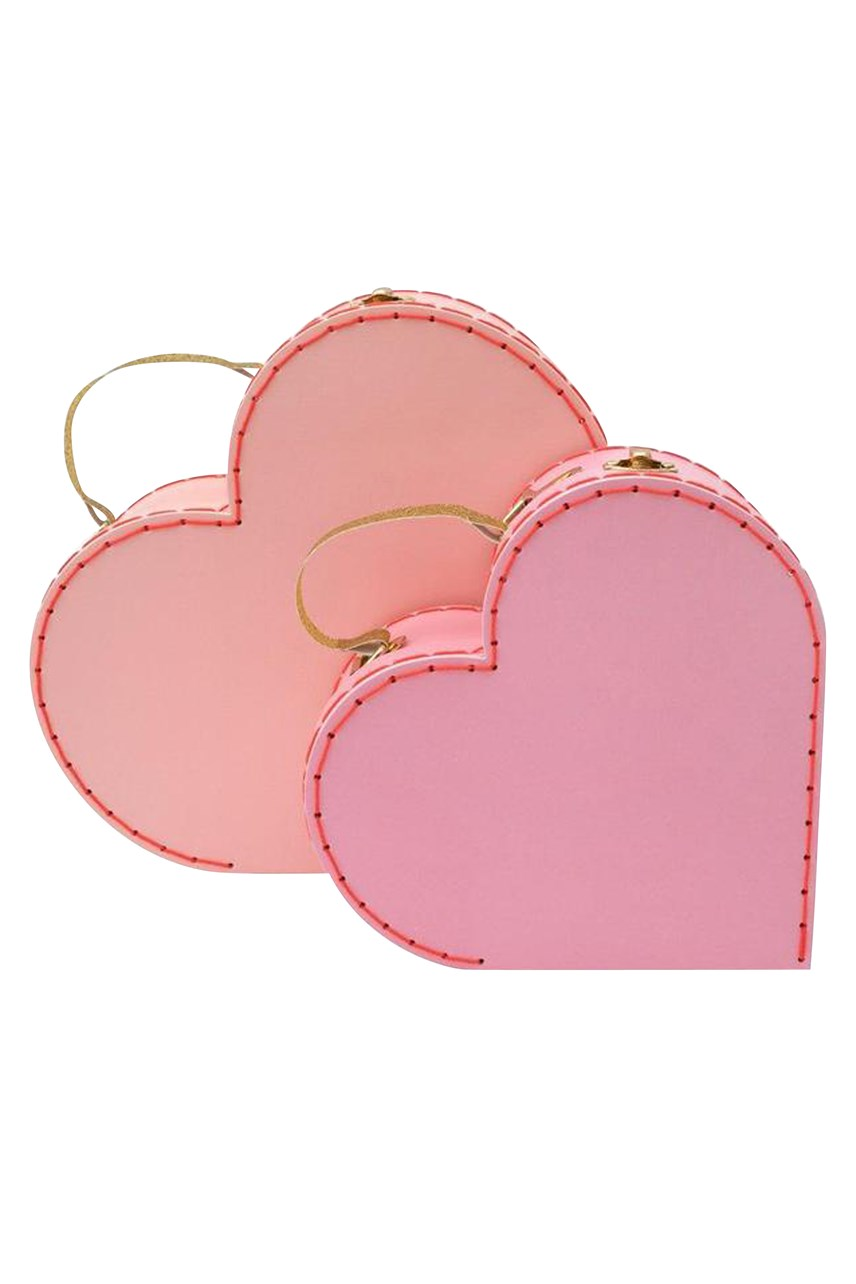 Heart Suitcases - Set of 2