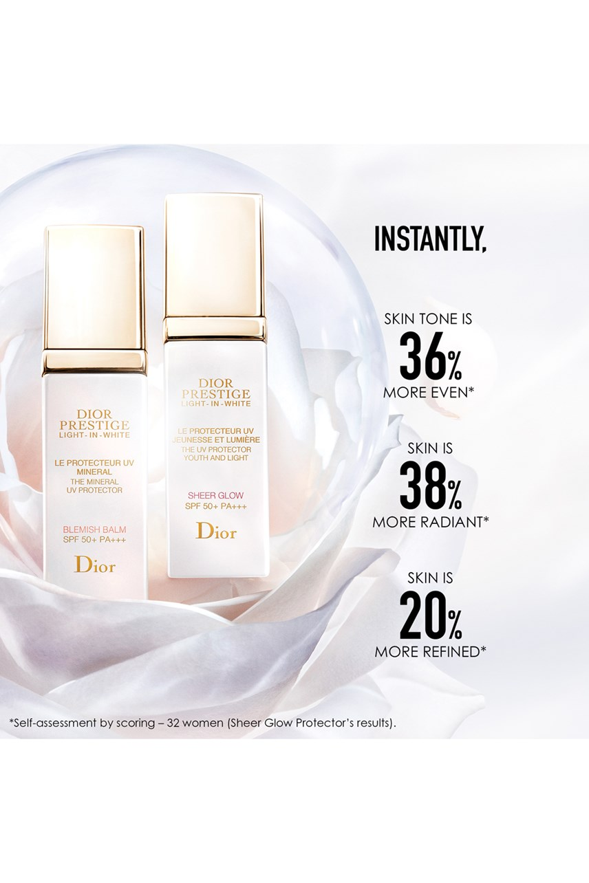 Dior |  | Dior Prestige Light-in-White The UV Protector Youth And Light - Sheer Glow SPF 50+ PA+++