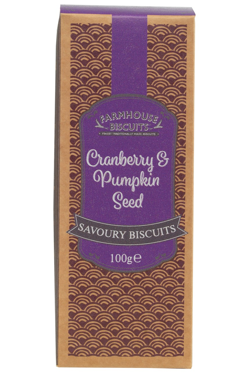 Cranberry & Pumpkin Seed Savoury Biscuits