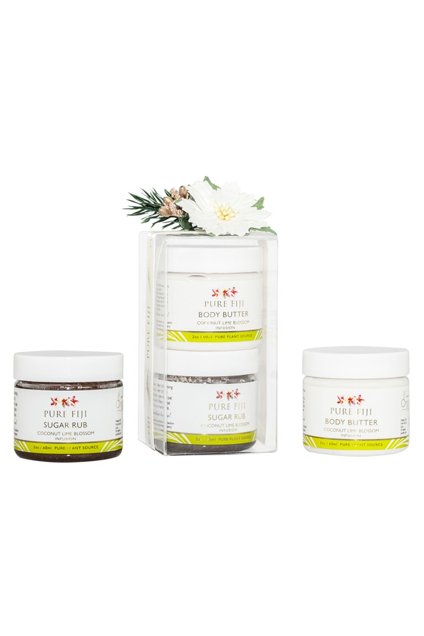 Christmas Mini Body Butter and Sugar Rub - Coconut Lime Blossom
