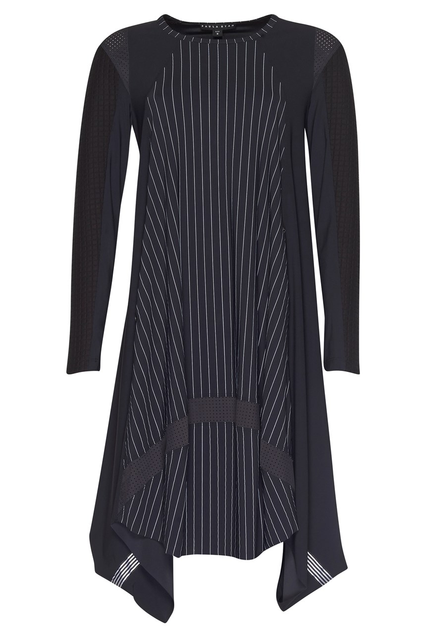 Swingback Pinstripe Dress