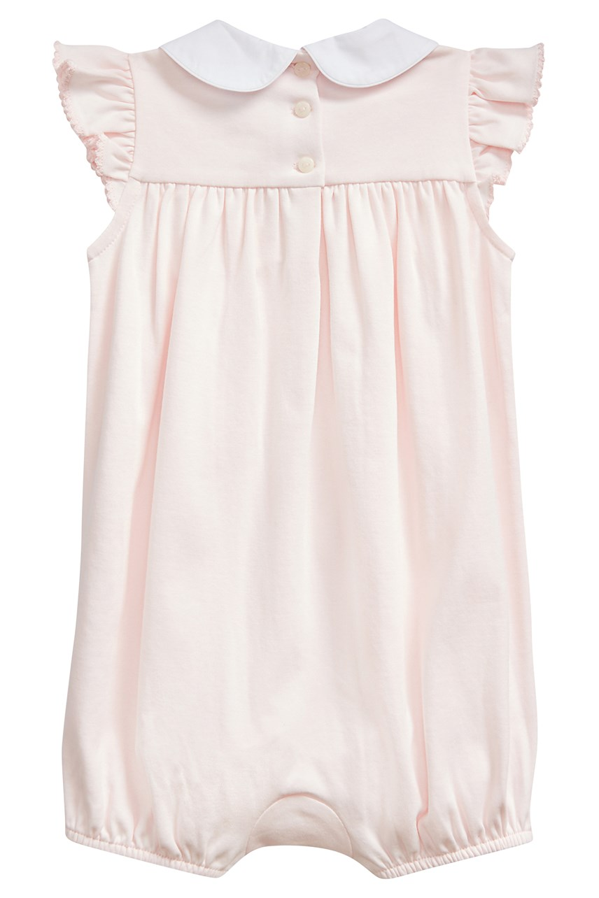 Smocked Cotton Shortall