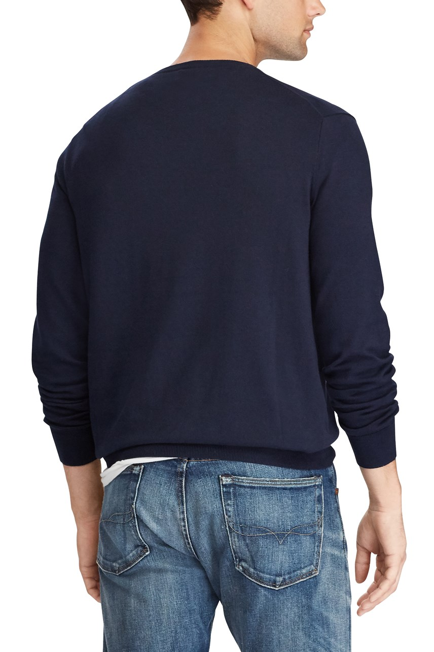 Slim Fit Cotton V-Neck Sweater
