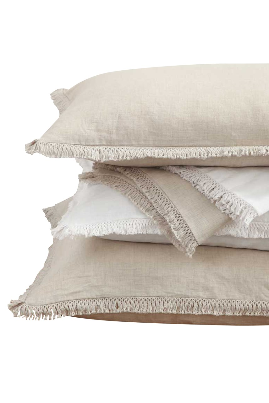 Laundered Linen Tassel Pillowcover Set