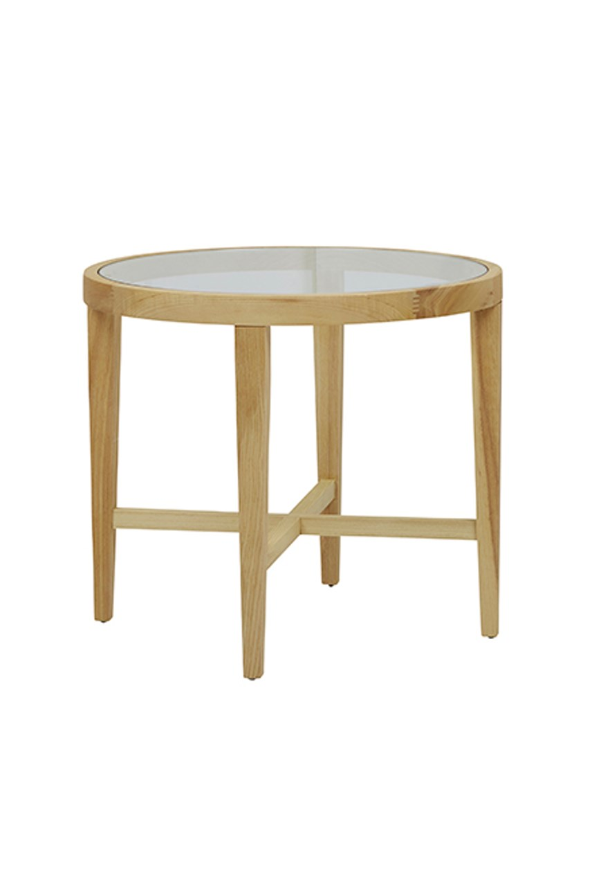 Ascot Round Glass Side Table