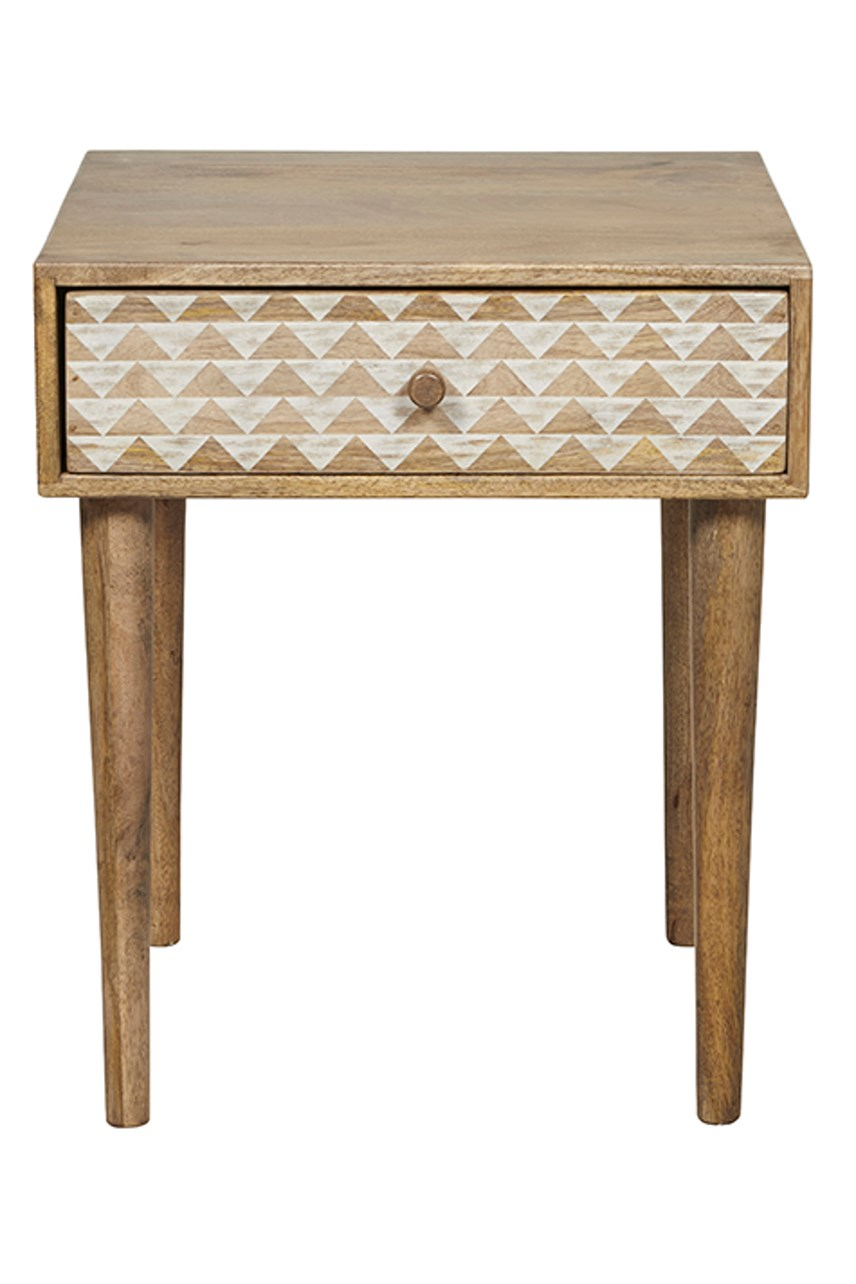 Retreat Tri Print Bedside Table