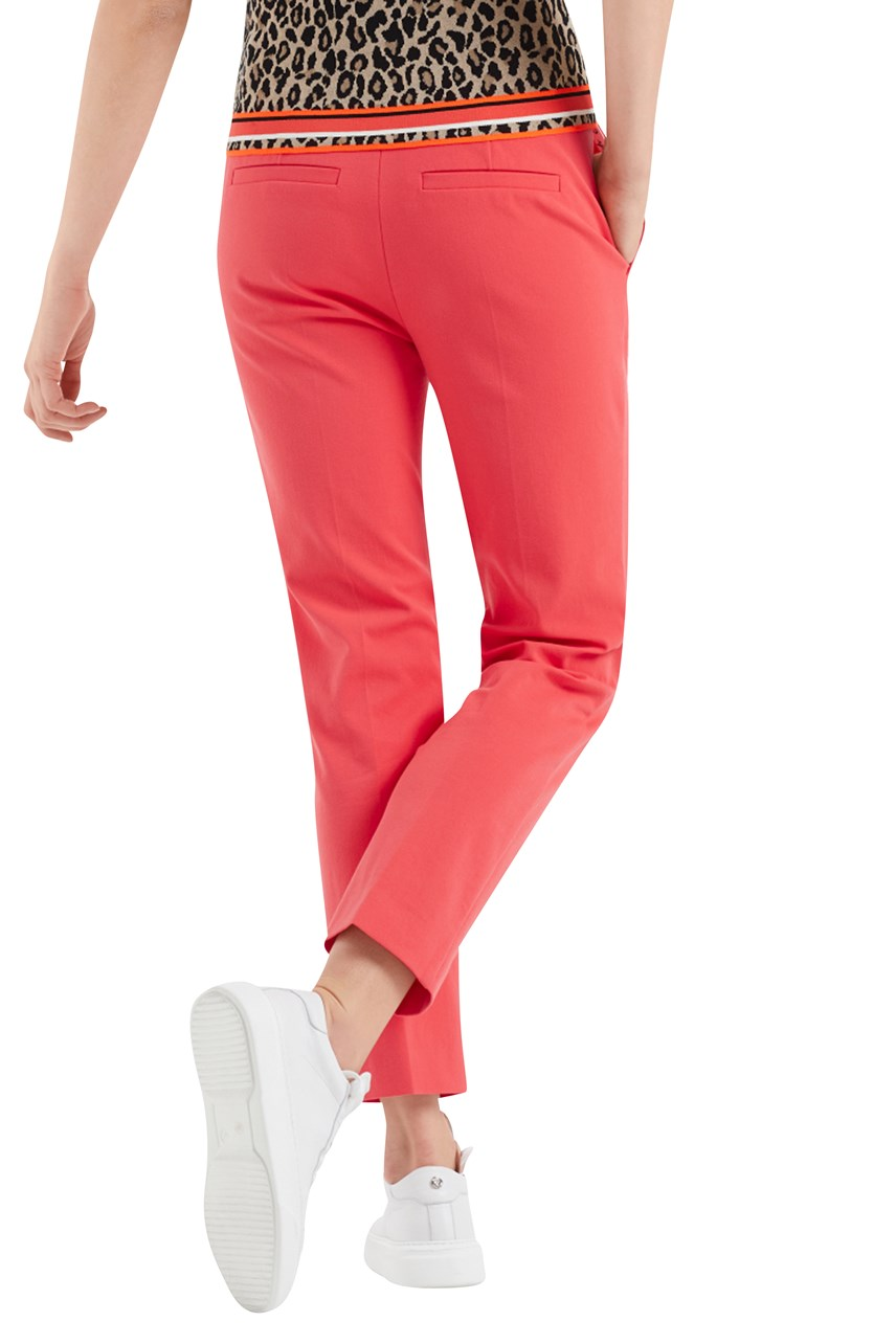 Cotton Blend Crop Pants