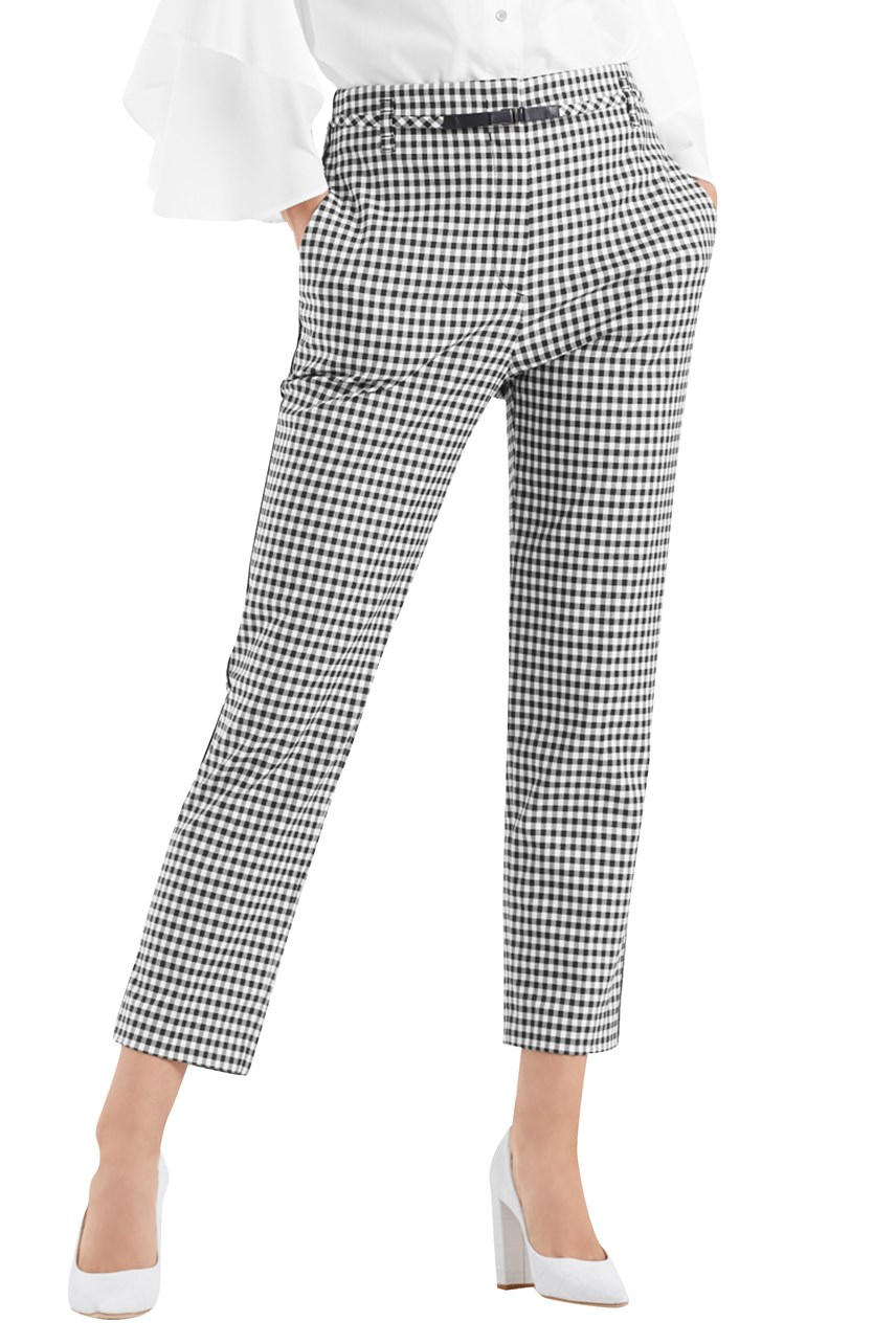 Vichy Check Stretch Pants