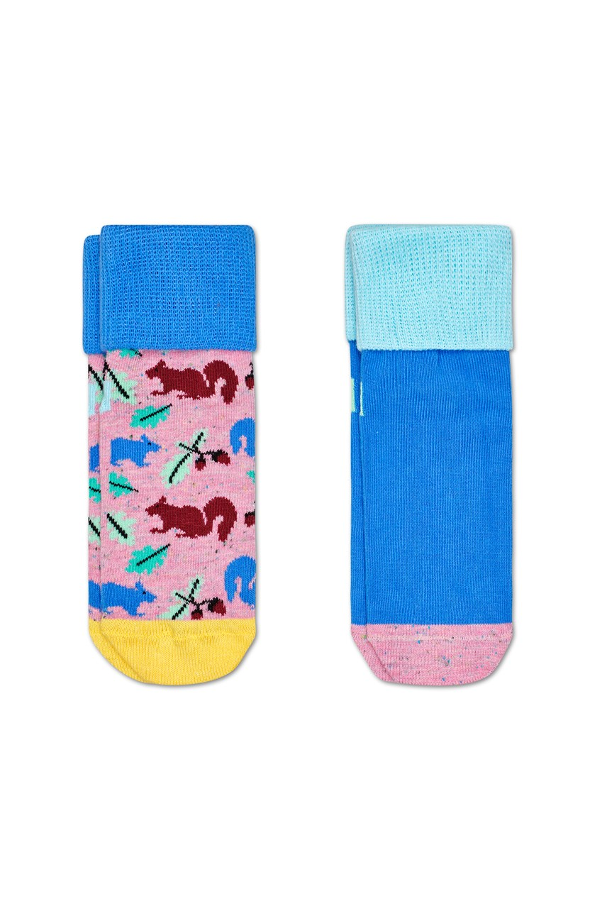 Kids Squirrel Anti-Slip Socks - 2 Pack