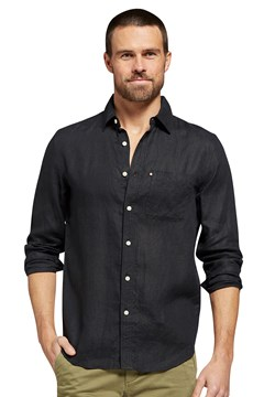 Hampton Linen Shirt BLACK 1