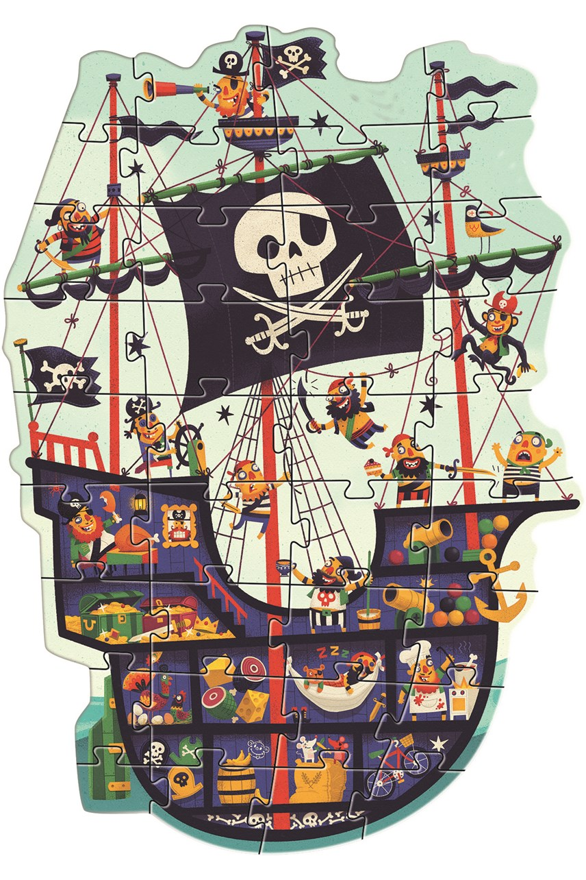 The Pirate Ship Giant Puzzle 36 Piece