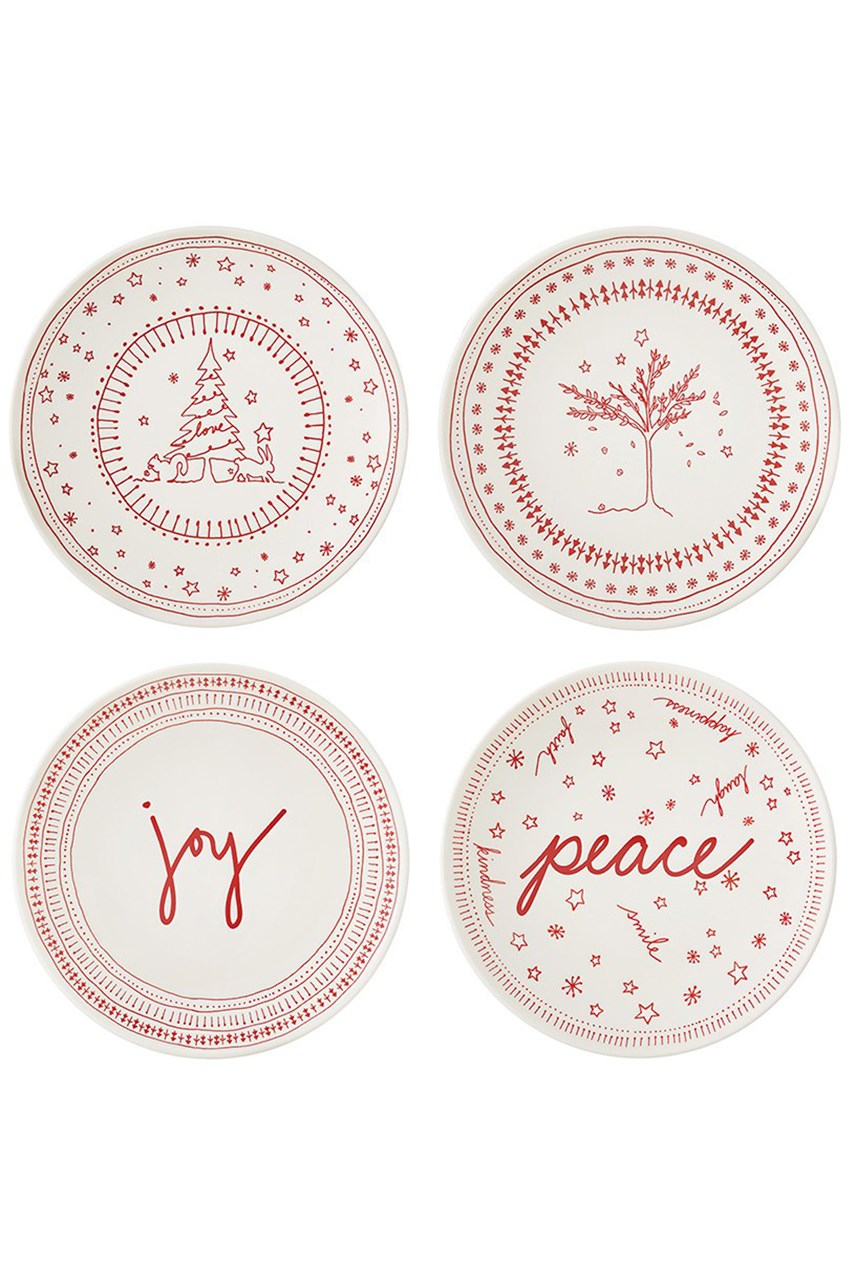 Ellen DeGeneres Christmas Plate 16cm - Set of 4
