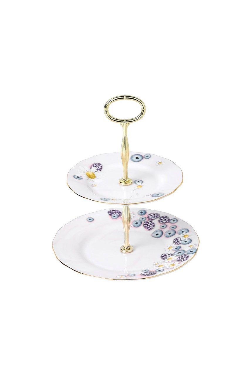 Alpha Foodie 2-Tier Cake Stand