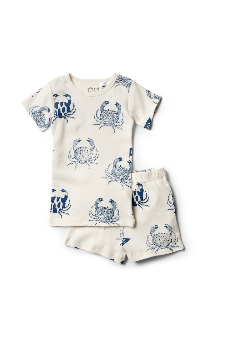 Organic Monsieur Crab Short Sleeve Pajama Set