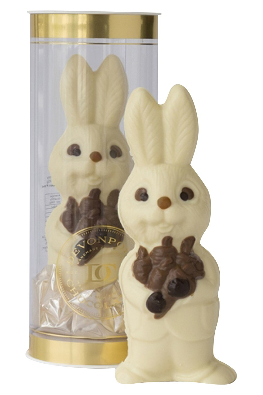 Mr Bunny Hollow White Chocolate Figure