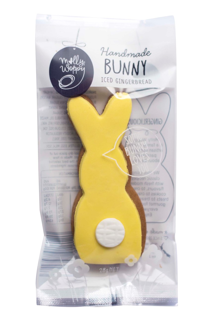 Iced Gingerbread Bunny - Yellow