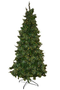 Mixed Pine Christmas Tree With Lights - 7 Ft GREEN 1
