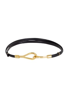Hook & Loop Adjustable Belt Black/Gold 1