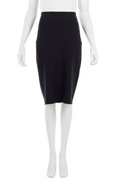 Stretch Pencil Skirt Black 1