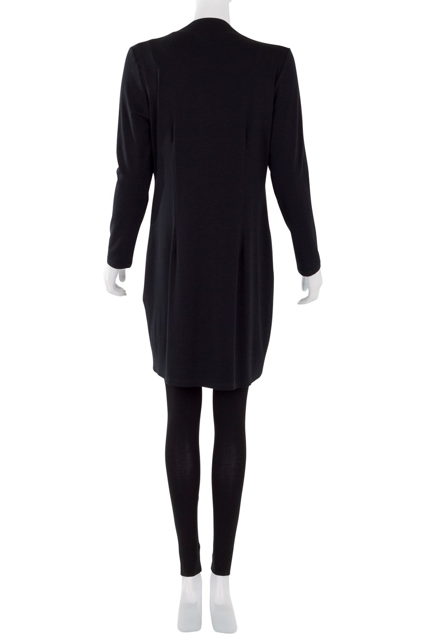 Long Sleeve V Neck Pocketed Dress
