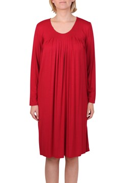 Pleated Sleep Dress CHERRY 1