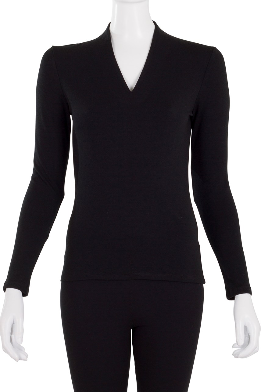 Slim Fit Long Sleeve High Neck Top