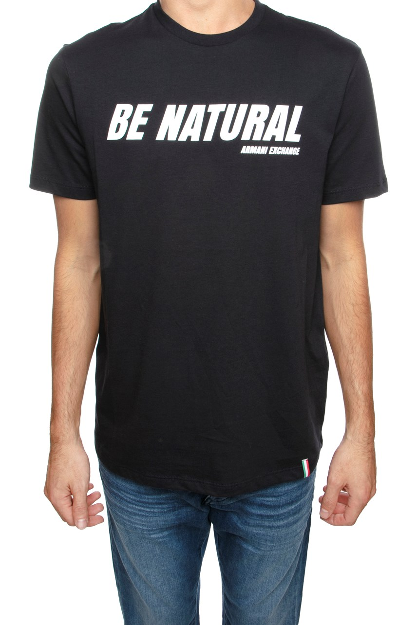 Be Natural Slogan T-Shirt