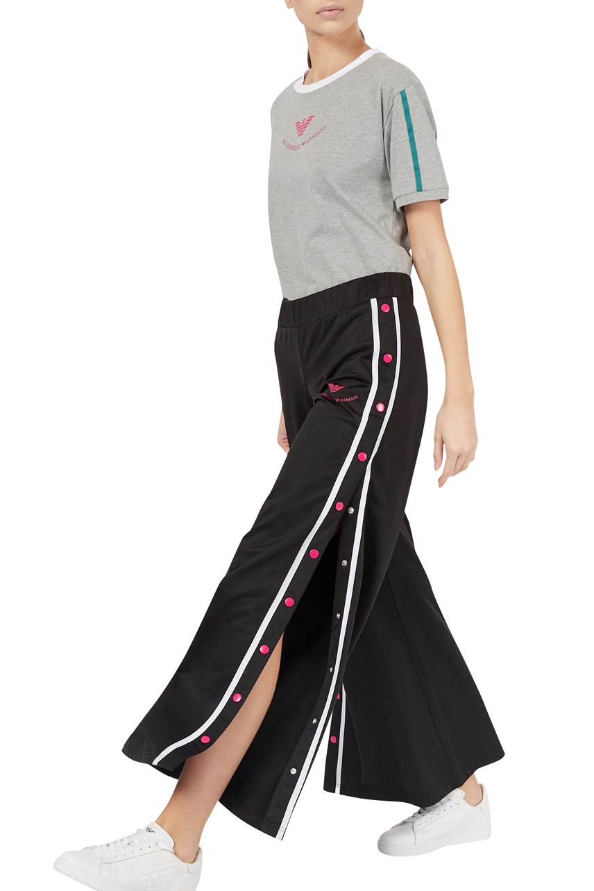 Oversized Trousers with Side Buttons