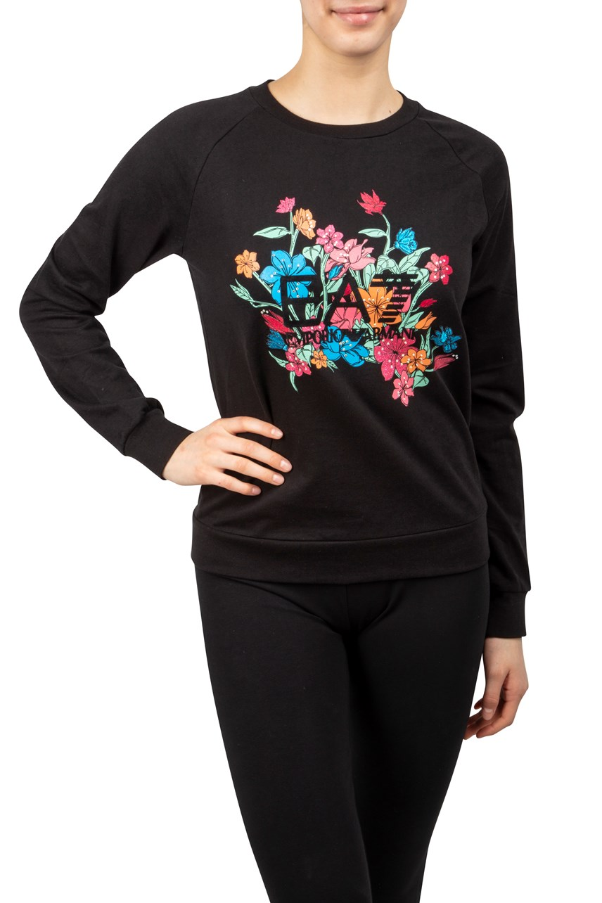 Floral Graphic Sweater