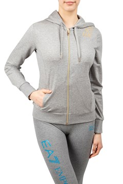 Logo Shoulder Zip Up Hoodie - EA7 - Smith   Caughey s - Smith and ... b566a9ddf