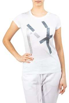 Abstract AX Glitter T-Shirt WHITE 1