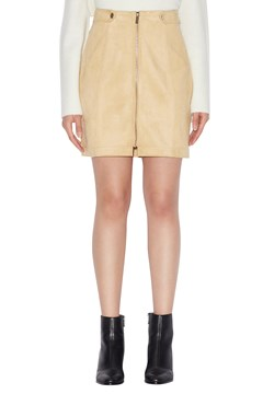 Faux Suede Mini Skirt - 1748