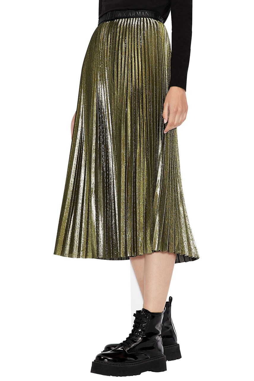 Golden Globe Pleated Skirt