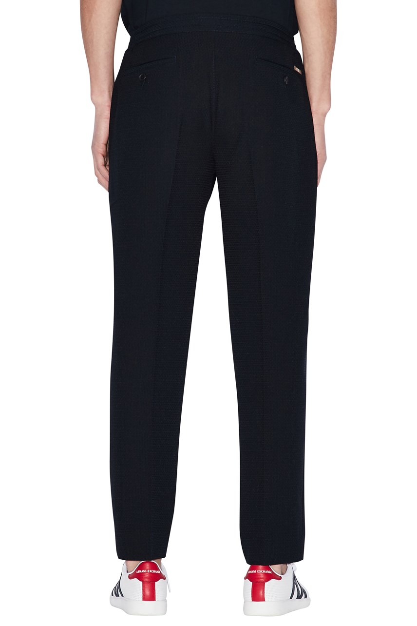 Stretch Viscose Blend Pants