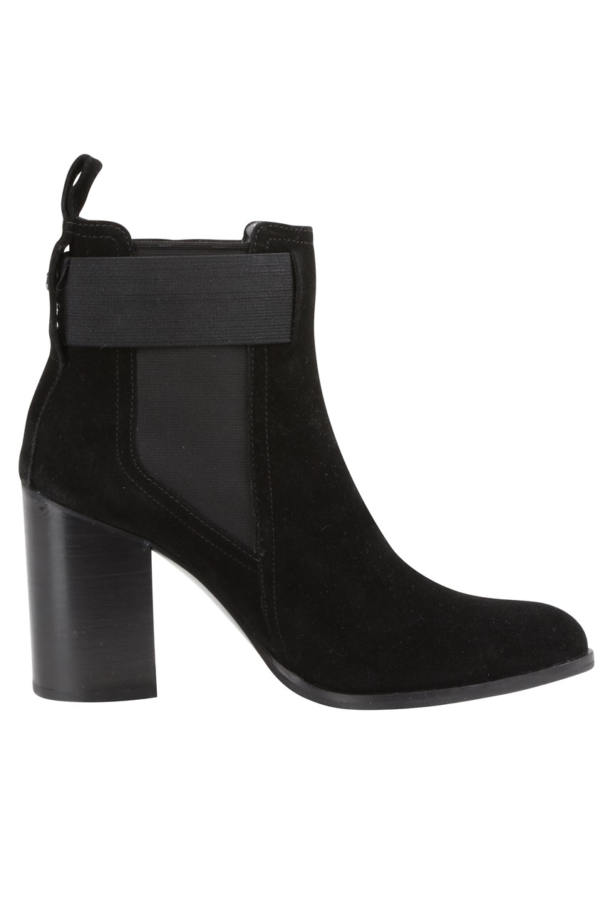 Suede High Heeled Chelsea Boot
