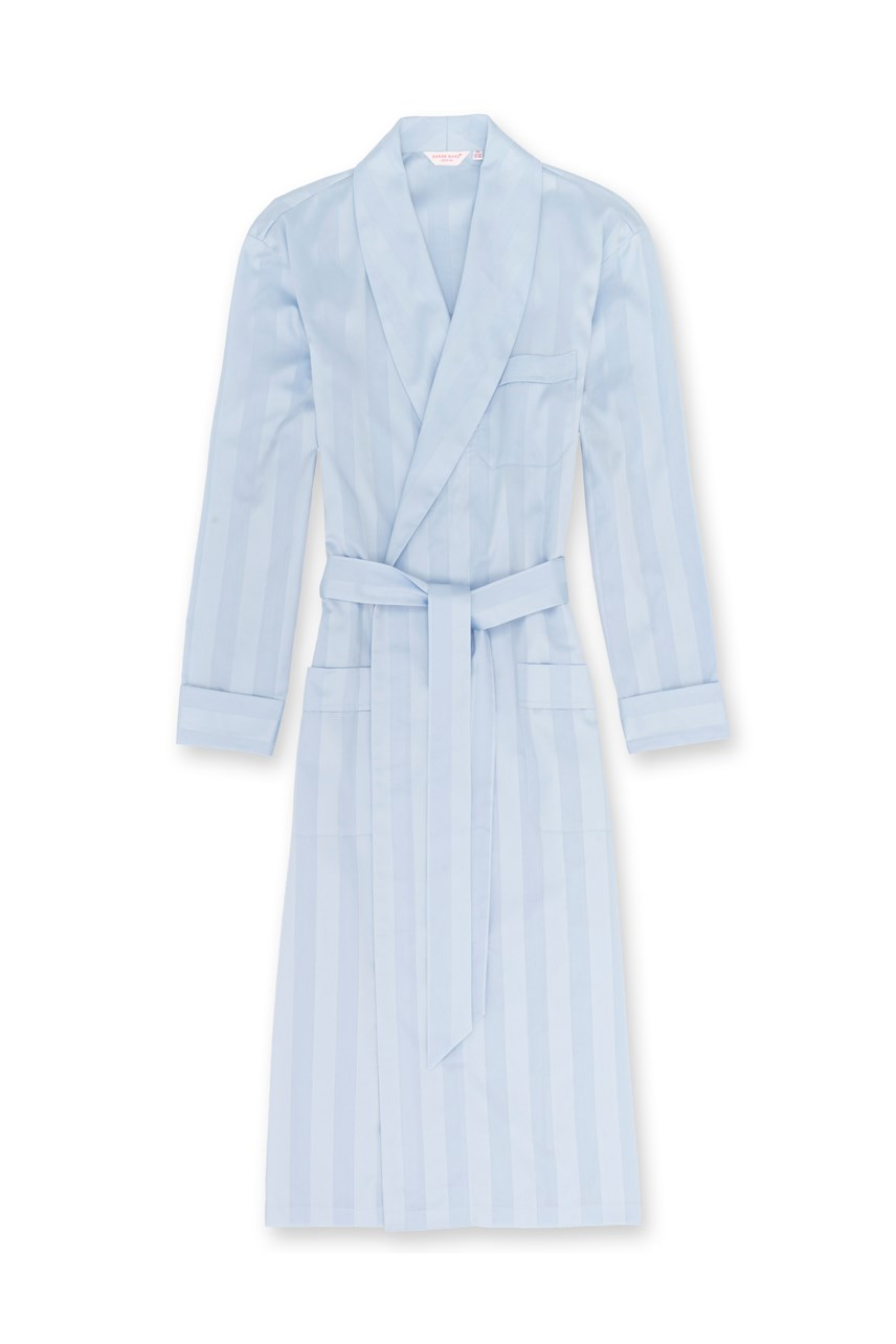 'Lingfield' Cotton Satin Stripe Robe