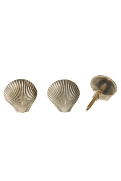 Abby Shell Knob - Set Of 2 1