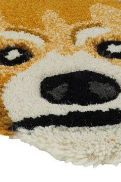 Perky Red Panda Head Rug -