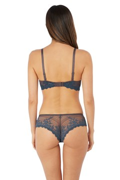 Embrace Lace Plunge Bra - ensign blue