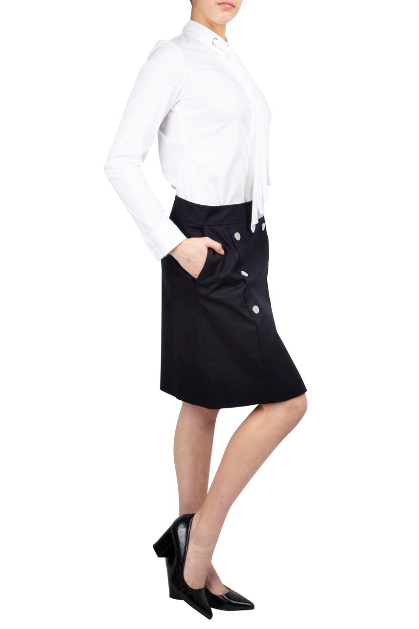 Button Placket Skirt