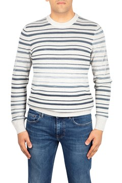 Faded Stripe Sweater 120 OPN WHT 1