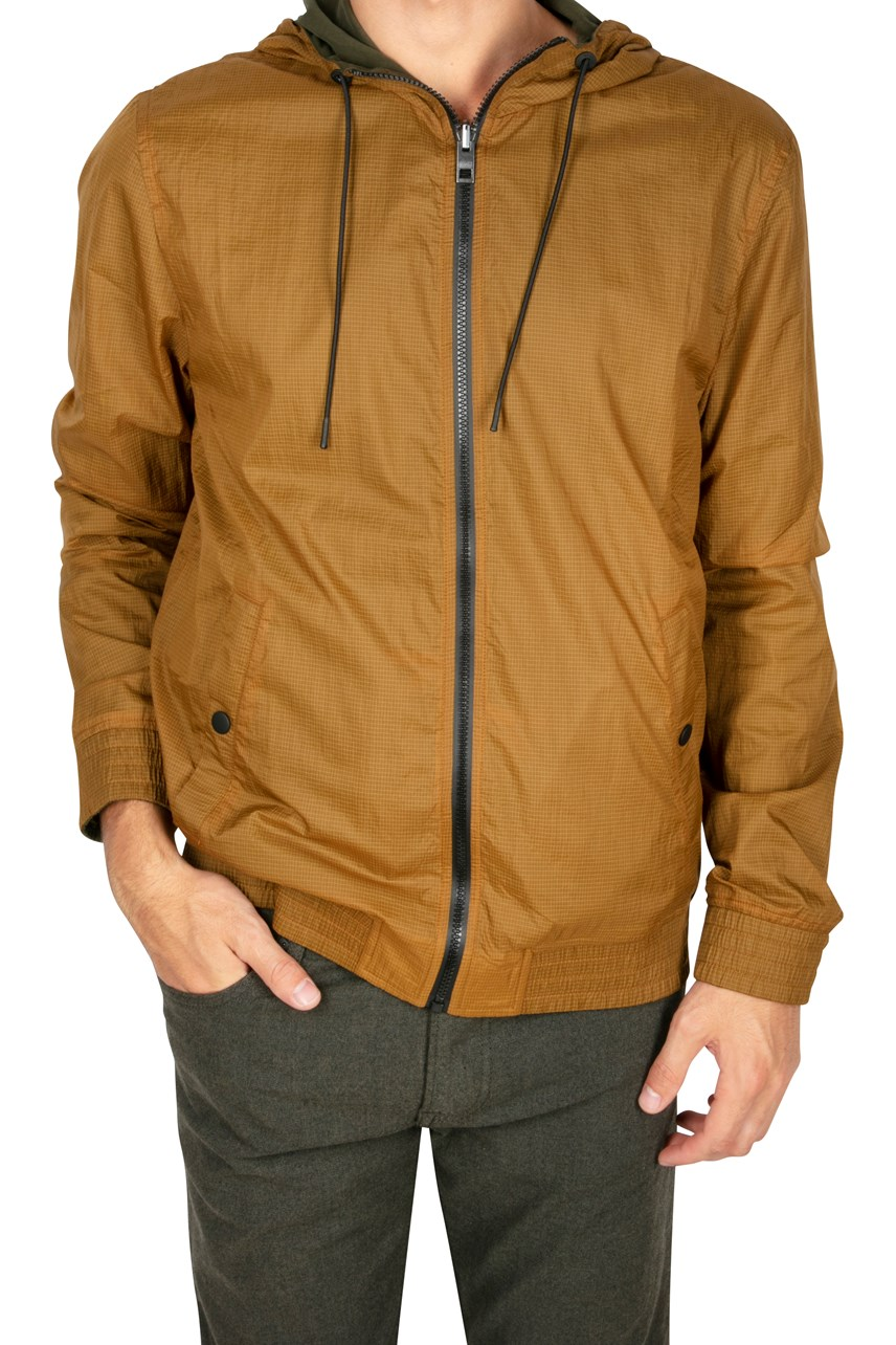 Zince Zip Up Hooded Jacket