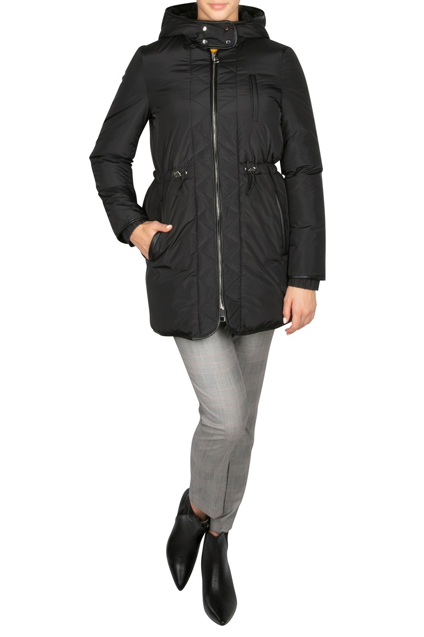 Hooded Outdoor Jacket With Cinched Waist