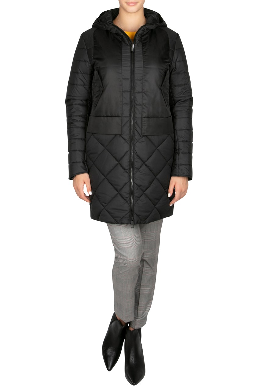 Quilted Outdoor Coat With Hood