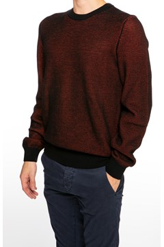 Crew Neck Knit Sweater - 001 black